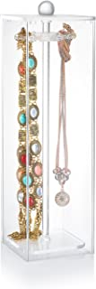Necklace Holder - Acrylic Jewelry Organizer Contains 12 Hooks Necklace Organizer