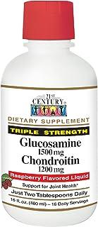 21st Century Glucosamine Chondroitin 1500/1200mg - Raspberry Liquid - Triple Strength, 16 Ounces
