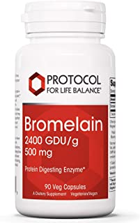 Protocol For Life Balance - Bromelain 2400 GDU/g 500 mg - Protein Digesting Enzyme, Supports Healthy Digestion, Nutrient A...