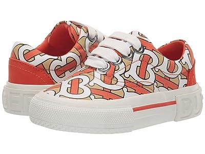 Burberry Kids Mini Skate Mono Low Top Sneaker (Toddler) (Vermillion) Kid