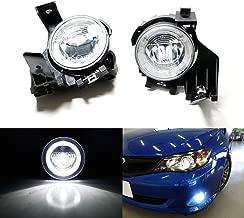 iJDMTOY Xenon White LED Daytime Running Light Fog Lamps For 08-11 Subaru Impreza WRX Sedan Wagon, (6) CREE XP-G LED Lights as Halo Ring DRL & (1) 10W CREE XB-D LED Light as Fog Light