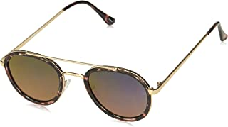 Laundry by Design Women's Ld263 Rsan Non-Polarized Iridium Aviator Sunglasses