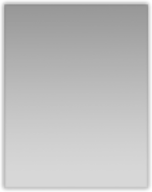 Eviva EVMR05-24X30 Sleek 24  Frameless Bathroom Mirror Combination, Glass