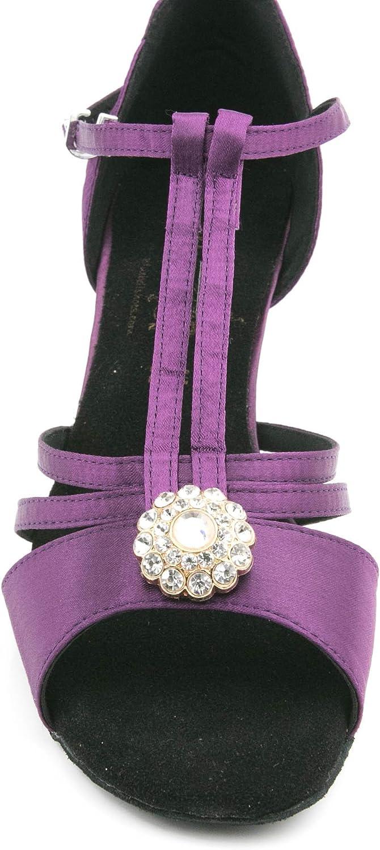 BlueBell Shoes Handmade Women's Ballroom Salsa Wedding Competition Dance Shoes Iris 2.5
