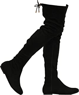 black knee high boots no heel
