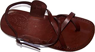 Holy Land Market Unisex Adults/Children Genuine Leather Biblical Sandals (Jesus - Yashua) Style IV