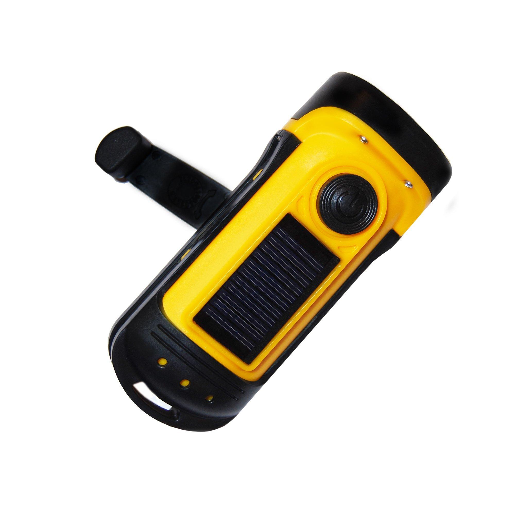 PrimalCamp Crank Solar Powered Flashlight
