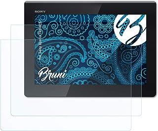 Bruni Skärmskydd är kompatibel med Sony Xperia Tablet S Film, kristallklart Skyddsfilm (2X)