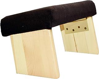 Mudra Crafts Foldable Meditation Bench - Kneeling Chair - Yoga Stool from Wood with Seat Cushion for Seiza Zazen Meditatin...