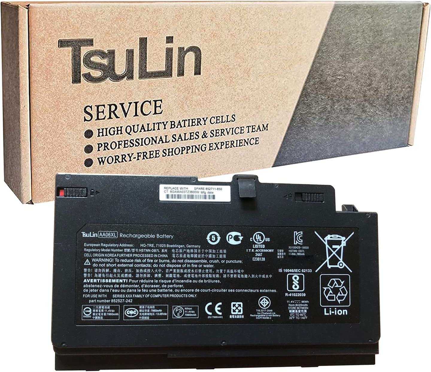 TsuLin AA06XL Laptop Battery Compatible with ZBook Latest item Clearance SALE Limited time 17 G4-1RR2 HP