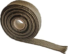 Titanium Auto Heat Sleeve Fiberglass Adjustable Heat Shield 10FT-15.24MM(3/5