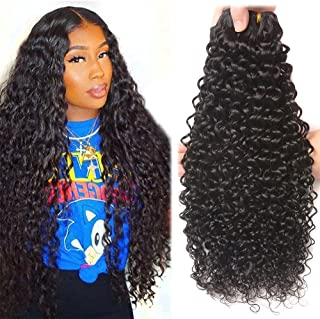 10A Unprocessed Brazilian Virgin Hair Water Wave Pack of 3 (18 20 22,300g) Cheap Wet and Wavy Human Hair Bundles Deal Resaca Hair Natural Wave Weave Extensions 1B