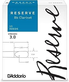 D'Addario Reserve Bb Clarinet Reeds, Strength 3.0, 10-pack