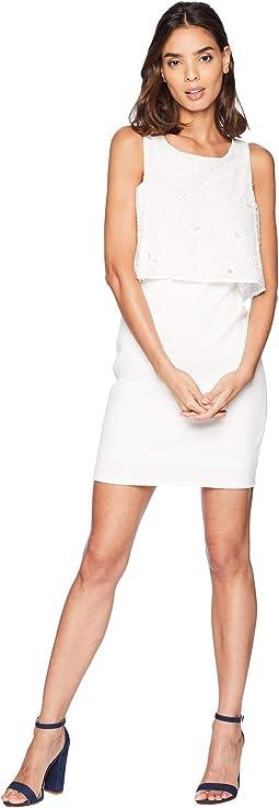 Twofer Overlay Mini Dress