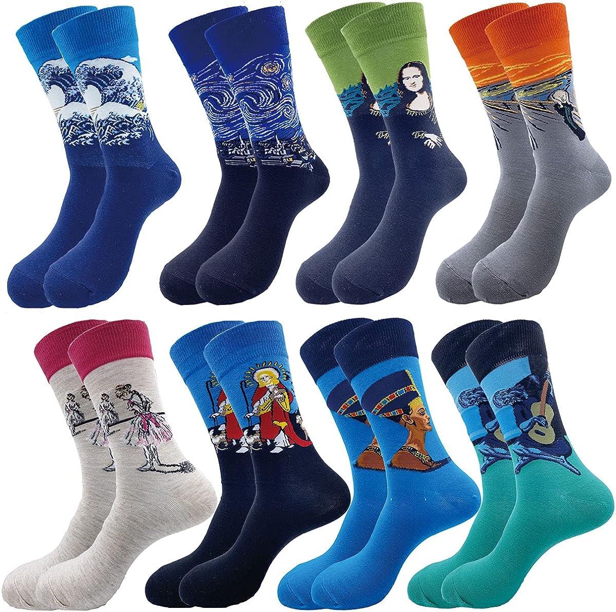 rockbottom Fun Socks ,Funny Socks for Men Novelty Crazy Crew Dress Socks ,Cool Cute Food Graphic Animal Socks