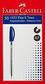 FABER-CASTELL 1423 BALL PEN 0.7MM BOX OF 50PC BLUE