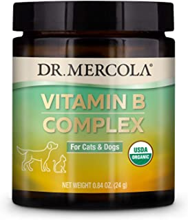 Dr. Mercola Vitamin B Complex for Pets - 0.84 OZ, 24g, non GMO, Gluten Free, Soy Free, USDA Organic
