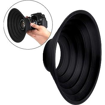 STSEETOP Camera Lens Hood Collapsible Reversible Filter Thread Rubber Digital Lens Hood DSLR Lens Cap Shade (for 70-90mm Lens)
