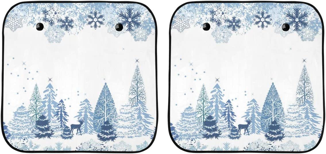 Kids Car Window Special price Shade Snow-Covered Win Landscape Cute New Shipping Free Winter