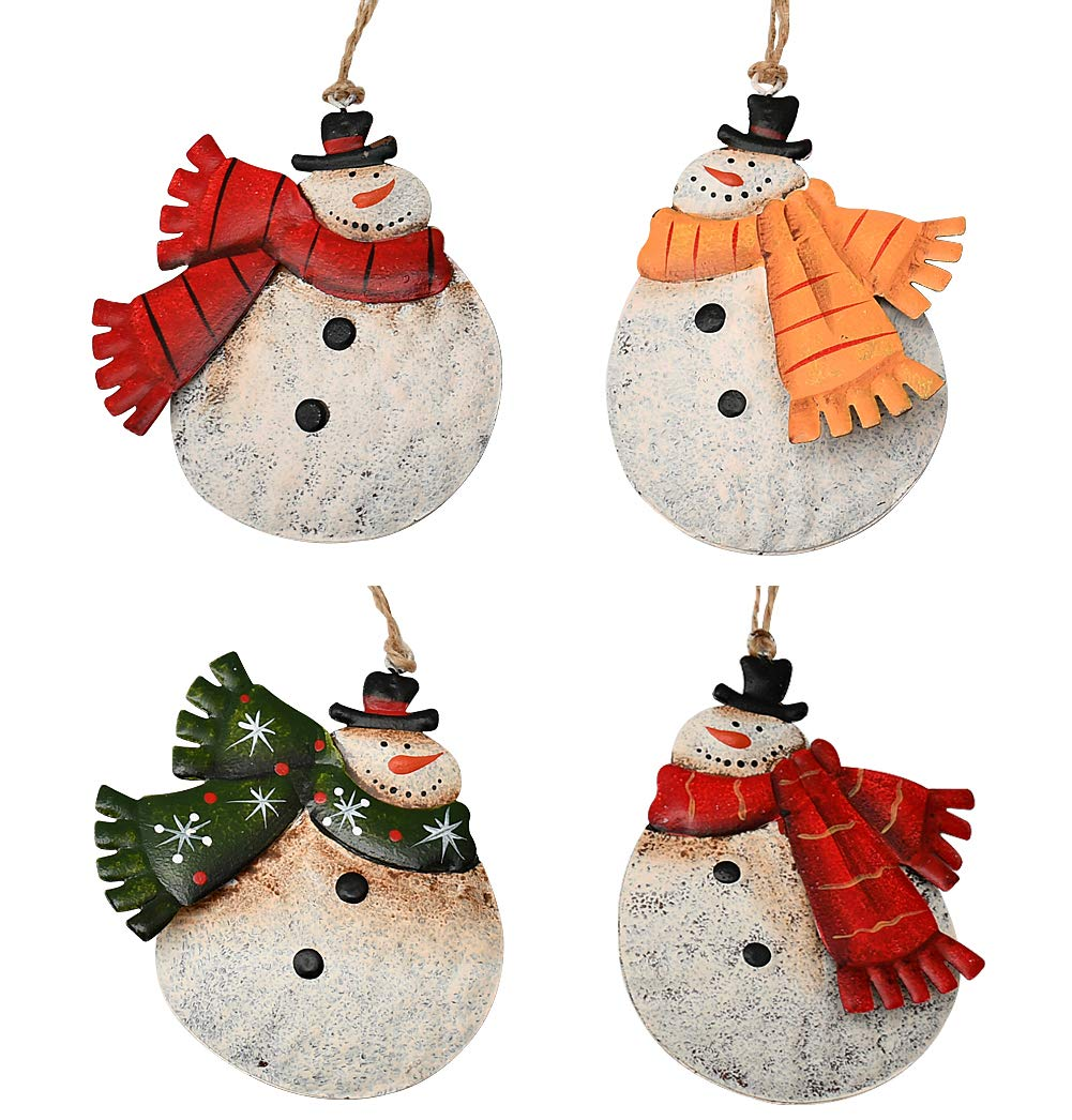 Rustic Metal Snowmen Ornament For Christmas Tree Decoration Snowman Christmas Hanging Ornament Xmas Holiday Decor E Snowmen Decor Kitchen Dining