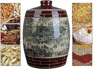 Pots et bocaux de conservation Seau de Stockage de Riz scellé Théière de Rangement en céramique Seau à Riz étanche à l'hum...