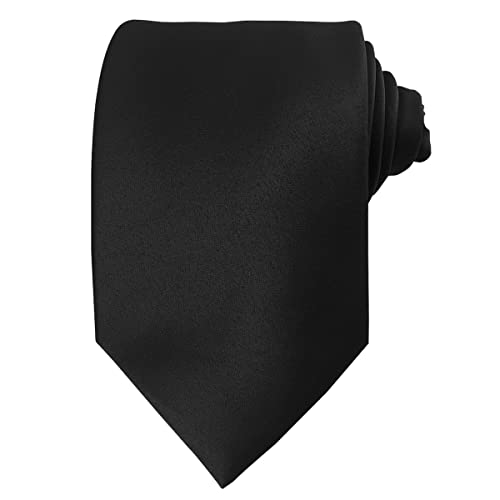 f35aa80c81179 Mens Solid Plain Silk Tie Black Various Colours Wedding Business Formal  Necktie