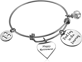 Happy Retirement 2018 Find Joy in The Journey Expandable Bracelet Adjustable Bangle Office Worker Gift Retire for Co-Worker Coworker Colleague
