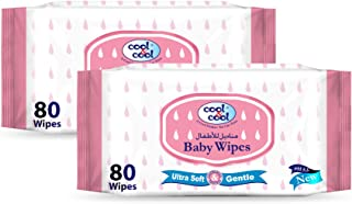 Cool & Cool Baby Wipes 80's - Twin Pack