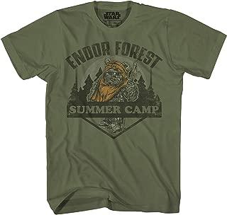 Endor Forest Summer Camp Ewok Tee Battle for Endor Return of Jedi Funny Humor Pun Adult Mens Graphic T-Shirt
