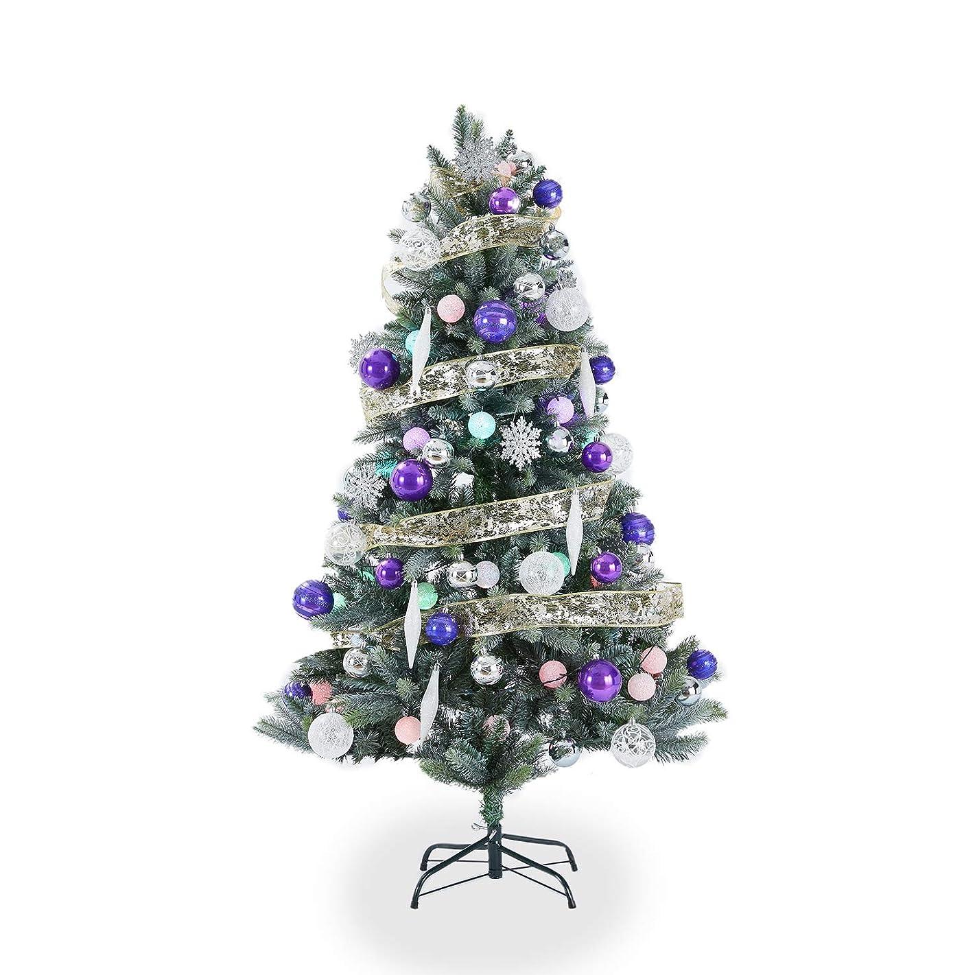 負意味するスライスLOWYA クリスマスツリー ツリー オーナメント LED ライト ボール 150cm