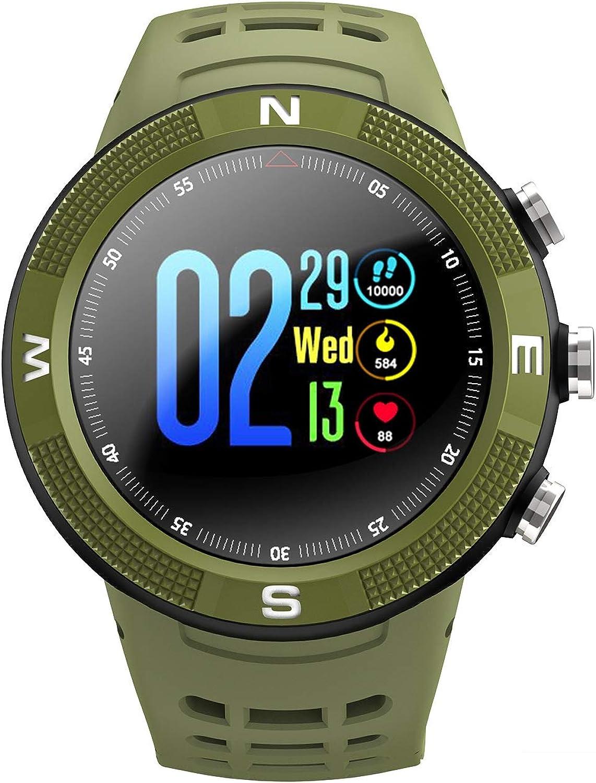 FSM88 Smart Watch, überwachung mit Herzfrequenz-Multifunktionsaktivitt, Schrittzhler IP68, wasserdichtes GPS, für Sport & Outdoor,Grün