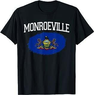MONROEVILLE PA PENNSYLVANIA Flag Vintage USA Sport Men Women T-Shirt