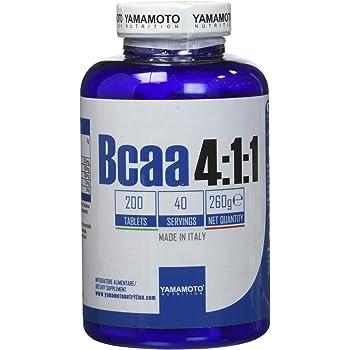 Yamamoto Nutrition BCAA 4:1:1 integratore alimentare di aminoacidi ramificati (BCAA) in rapporto 4:1:1 200 compresse