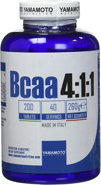 Bcaa 4:1:1 integratore alimentare di aminoacidi ramificati (bcaa) - yamamoto nutrition P36236