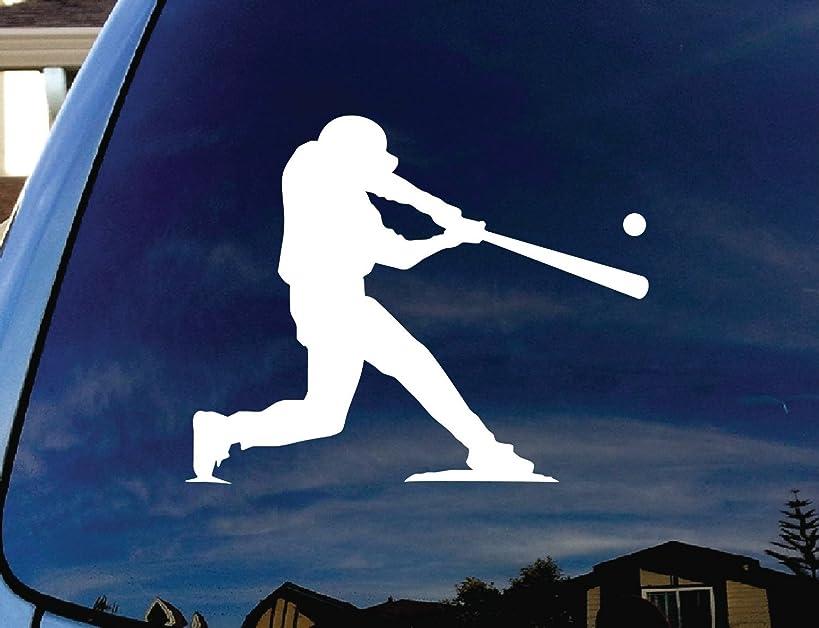 Baseball Player at Bat Car Window Vinyl Decal Sticker 5