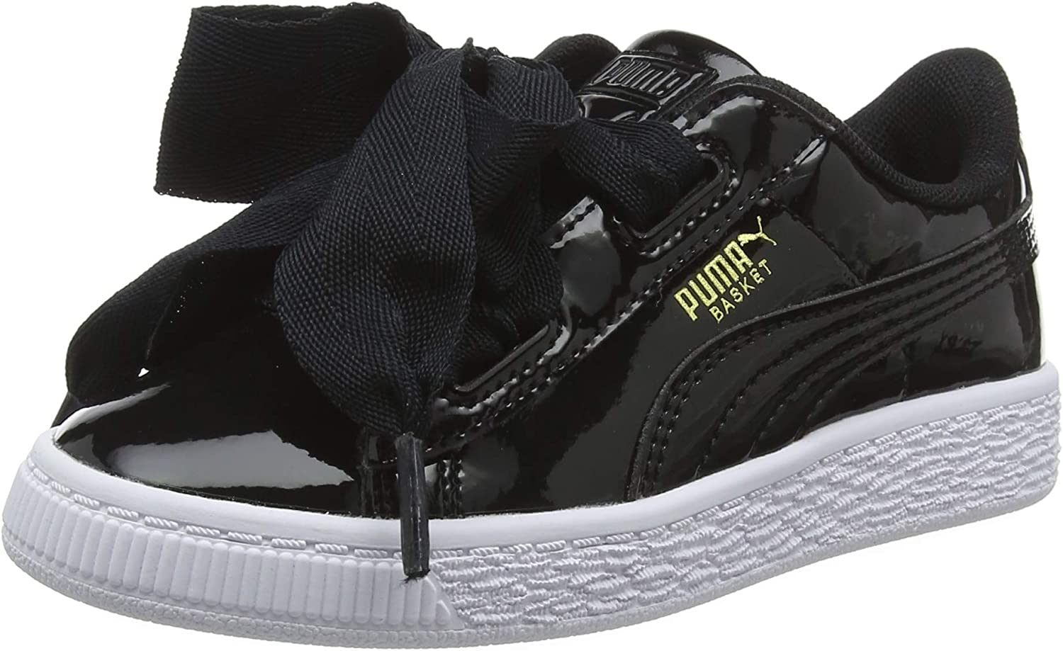 PUMA Basket Heart Patent PS, Sneakers Basses Fille : Amazon.fr ...
