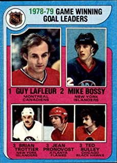 1979-80 Topps #7 Game Winning Goals Guy Lafleur CANADIENS Mike Bossy ISLANDERS Brian Trottier Jean Pronovost FLAMES Ted Bulley BLACKHAWKS (Ex-Mt+) Vintage NHL Hockey Card (Box214Stu)