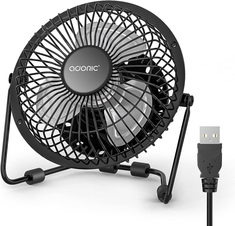 Desk Fan, USB Fan With Enhanced Airflow 6 Inch Small Desk fan with Quiet Operation Portable Mini Table Fan for office/Desk/Bedroom/Home