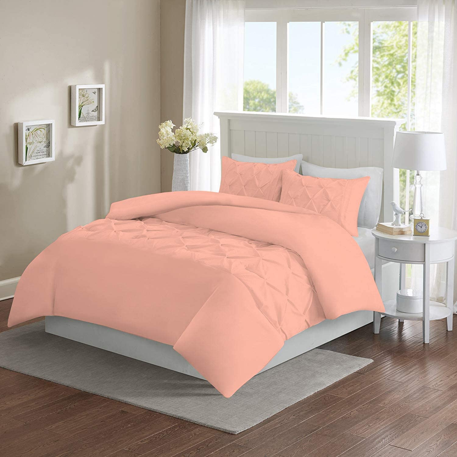1Sleep2Sheep 3 Piece Free shipping New Long-awaited Half Pinch Duvet Pleated Cover Zipper with