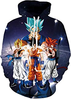 Unisex 3D Anime Printed Hoodies Realistic Dragon Ball Z Naroto Pullover Sweatshirts