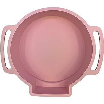 "Perfect Cheesecake Water Bath Pan | Silicone | For Standard 9"" Springform Pan | Leakproof Cake Pan Bakeware (Pink)"