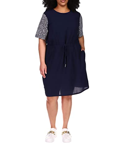 MICHAEL Michael Kors Plus Size Graphic Logo Combo T-Dress Women