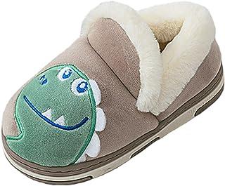 CELANDA Chausson Hiver Enfant Pantoufles Fille Garcon Peluche Mignon Maison Anti-dérapant Chaud Slippers Confort Coton Cha...