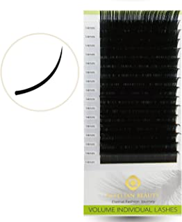 BEYELIAN XD Russian Volume Lashes 0.03mm Individual Eyelash Extensions Semi Permanent Mink Lashes (0.03mm C 14mm)