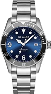 NEYMAR 41.5mm Men's Japanese Automatic 300m Diver Stainless Steel Watch