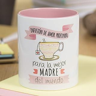 La Mente es Maravillosa - Taza con frase y dibujo divertido (Infusión de amor profundo para la mejor madre del mundo) Rega...