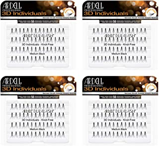 Ardell 3D Individuals Medium Black, 4 Pack