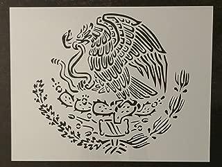 Custom Stencil Mexico Mexican Flag Emblem Eagle 11
