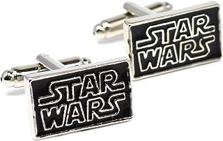 Logotipo Star Wars gemelos - Negro Novedad gemelos de plata con inscripción