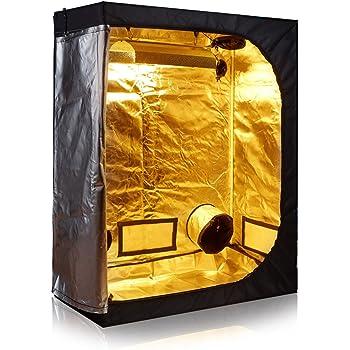 """TopoGrow D-Door 60""""X32""""X80"""" Indoor Grow Tent Room 600D Mylar High Reflective W/Plastic Corners"""
